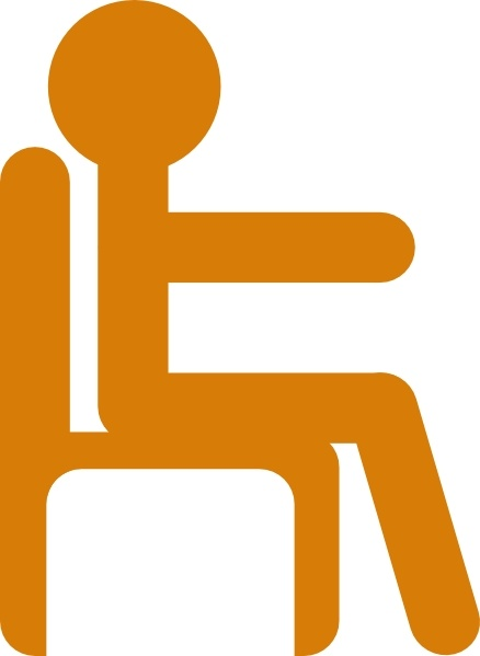 Person In Chair clip art Free vector in Open office drawing.