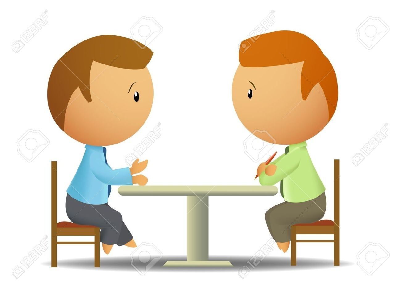 Two People Talking Clipart 5.