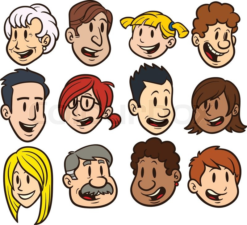 People Faces Clipart.