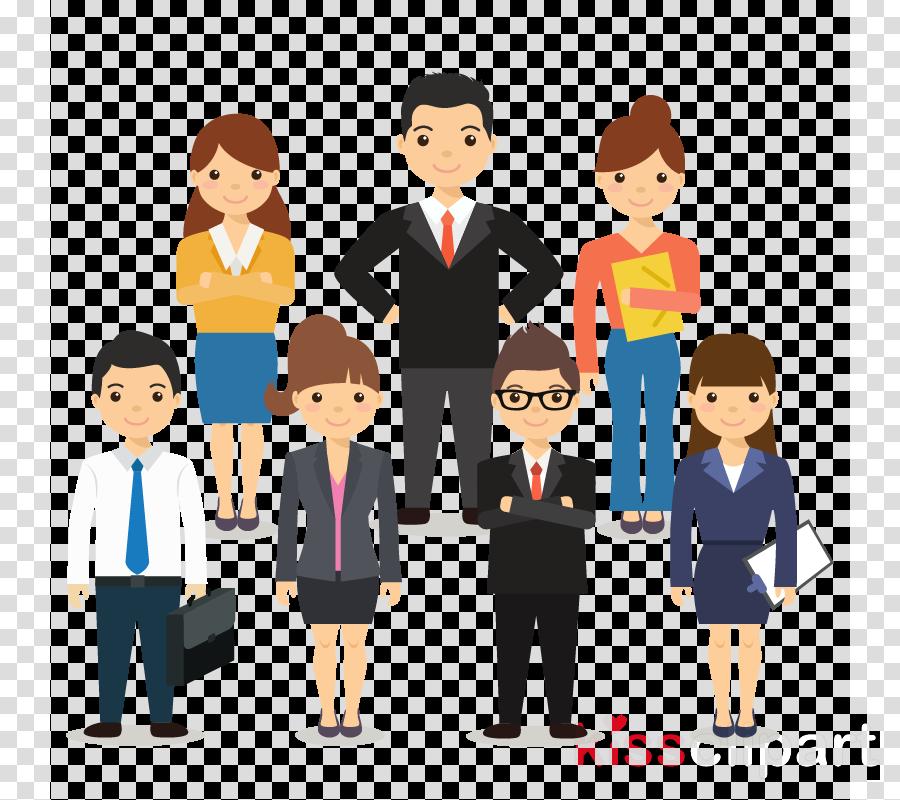 people cartoon social group team job clipart.