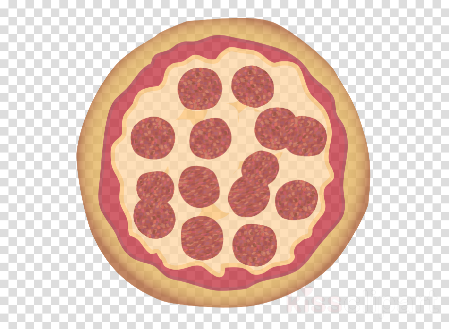 pepperoni sausage food pink pattern clipart.