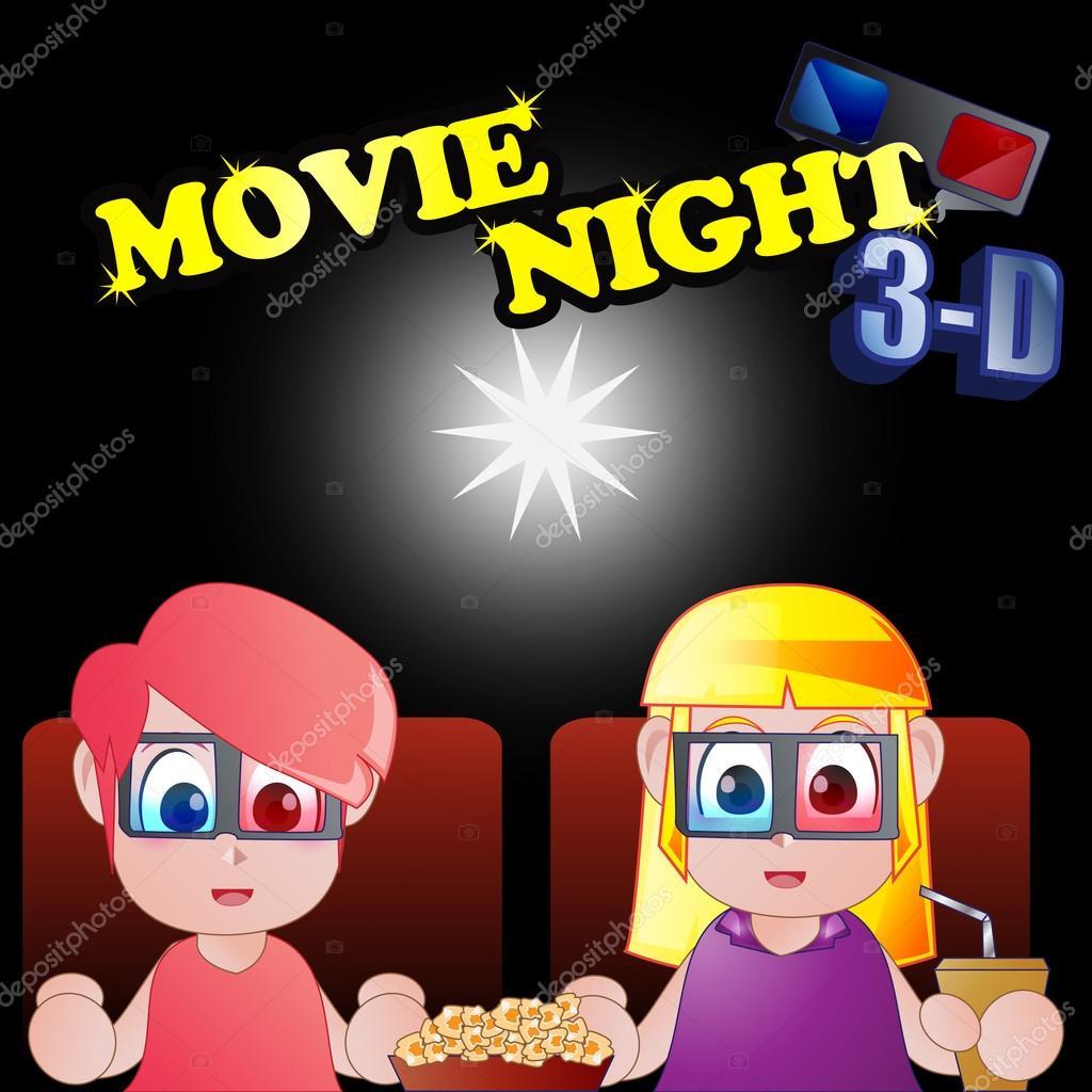 ClipArt per bambini che guardano film — Vettoriali Stock © kozzi2.