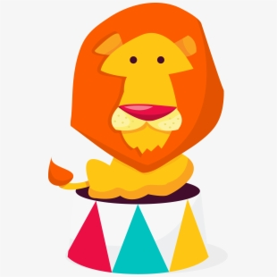 Lion Performance Circus Clip Art.
