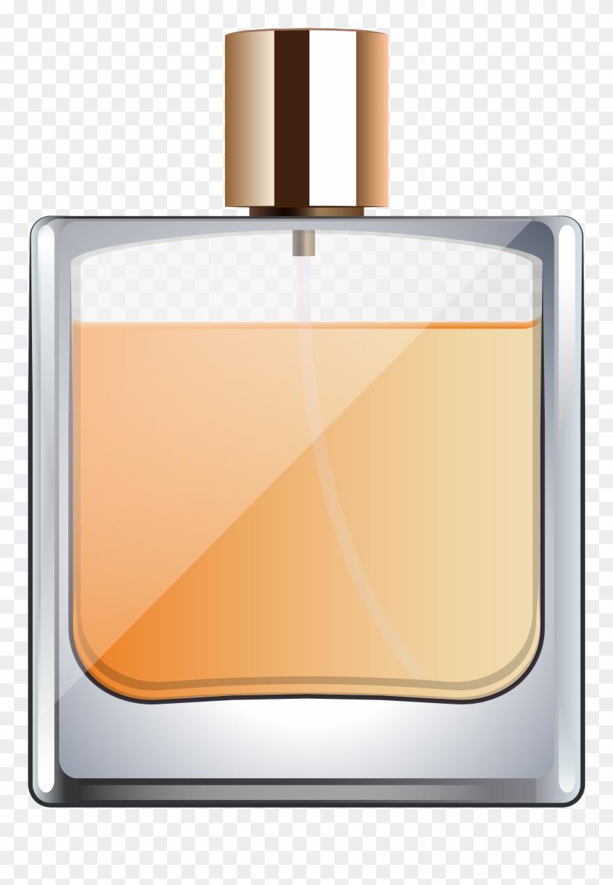 Perfume Bottle Transparent Clip Art Image.