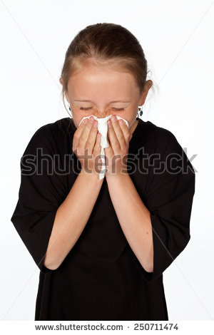 Young Man Glasses Sneezing Tissue Blowing Stock Photo 535240228.