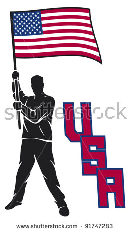 Man Holding Usa Flag Stock Images, Royalty.