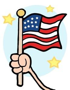 Holding Flag Clipart.