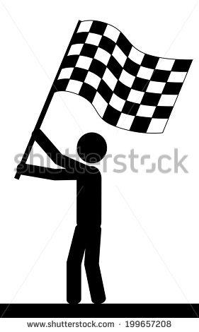Vector Illustration Man Holding Flag His Stock Vector 199657208.