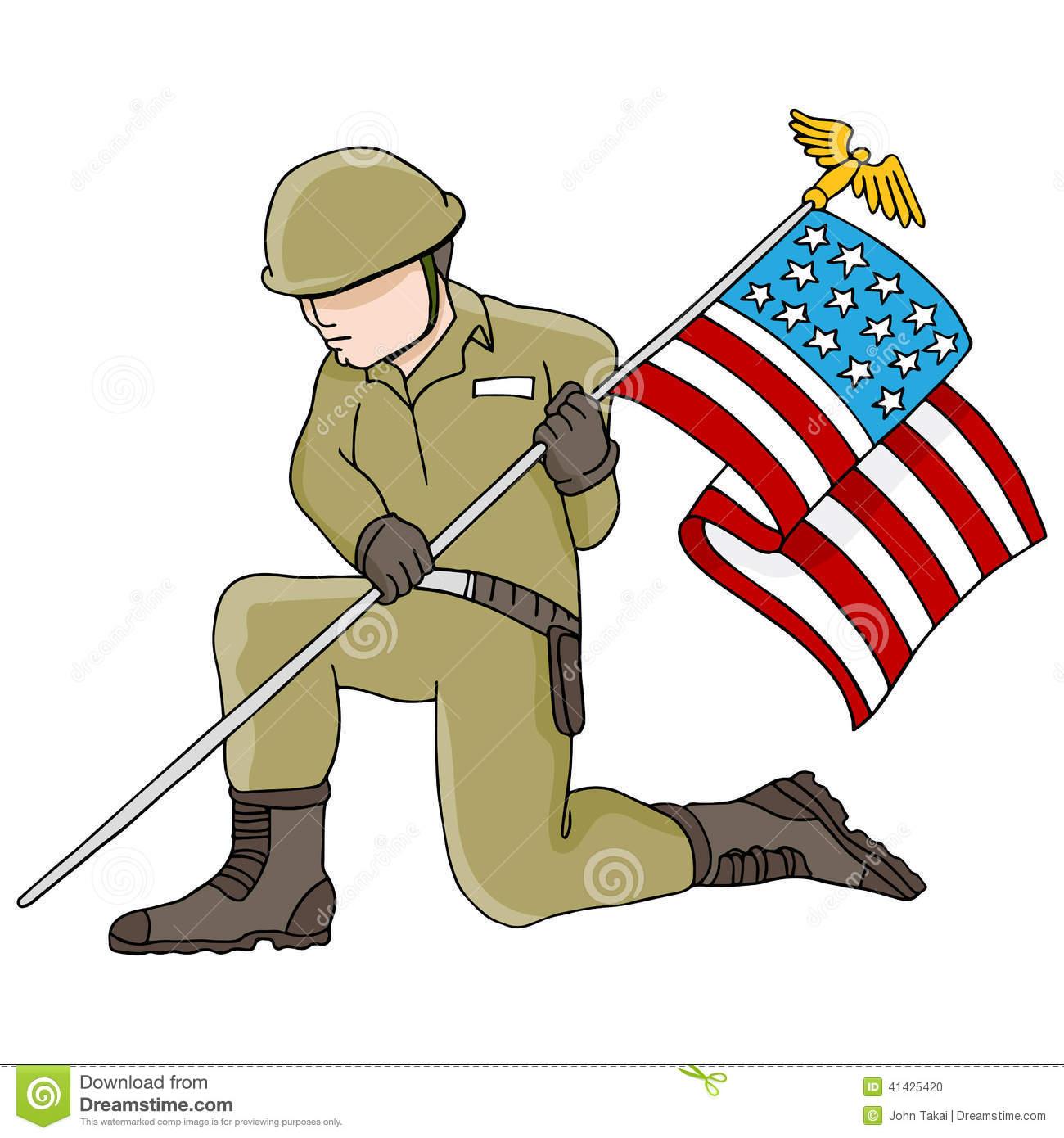 Showing post & media for Man holfing flag cartoon.