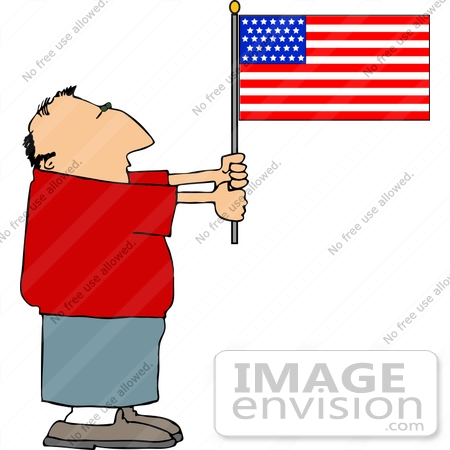 Showing post & media for Cartoon person with flag.