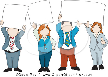 Person Holding Sign Clipart.