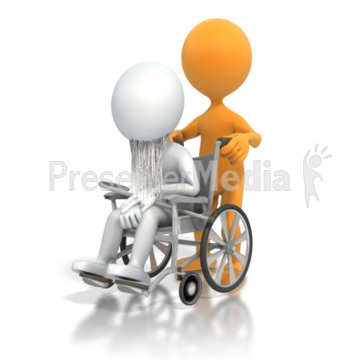 Old Person Wheelchair.