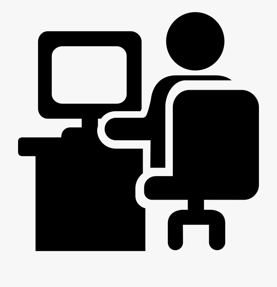 Person Svg Office Clipart.