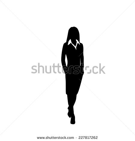 Woman Silhouette Stock Images, Royalty.