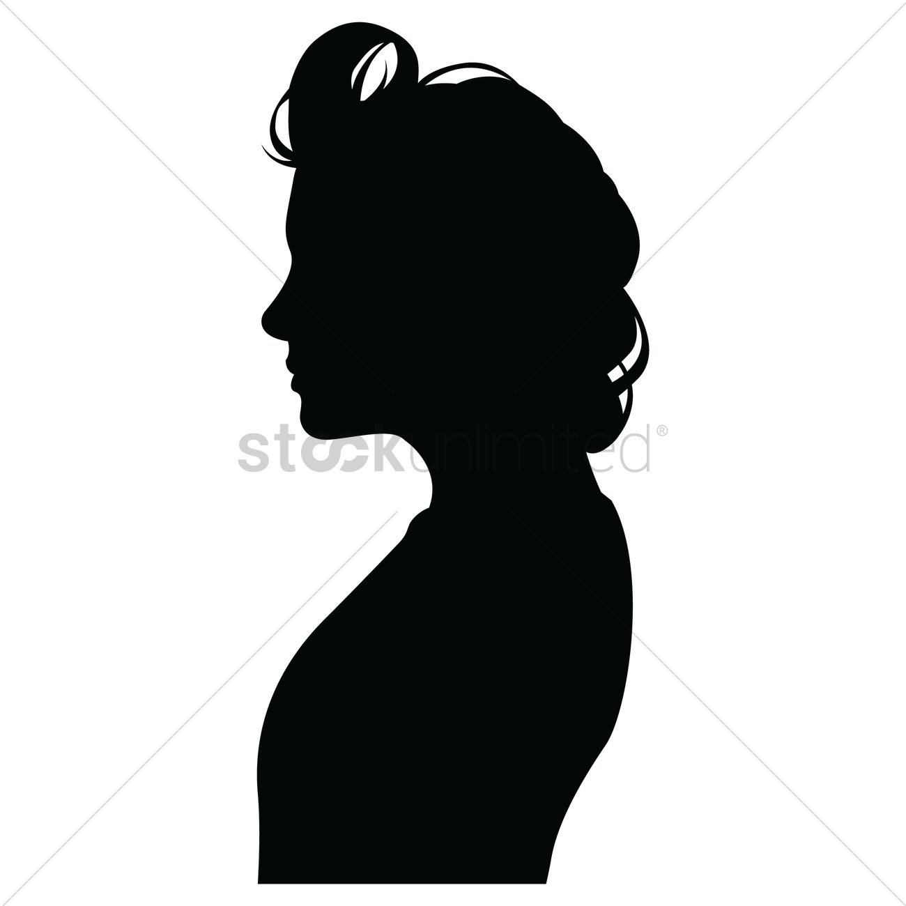 Silhouette Silhouettes Human Humans People Person Head Heads Half.