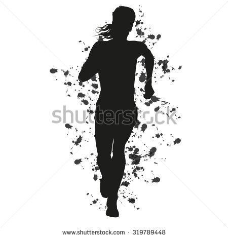 Runner Silhouette Stock Images, Royalty.