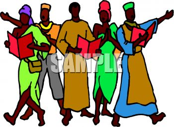 African People Singing.