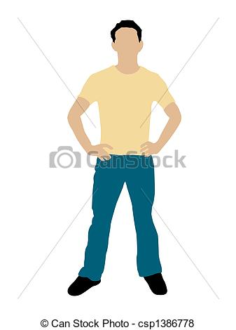 Clipart Person Standing.