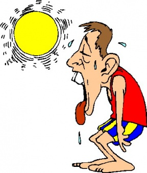 People Sweating Clipart.