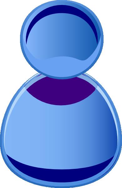 Blue Symbol Person Clip Art at Clker.com.