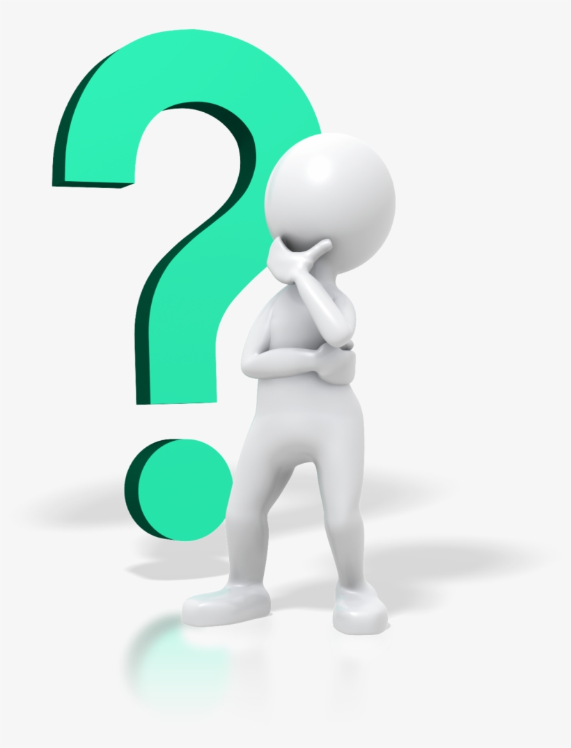 Person Thinking With Question Mark Free Clipart.