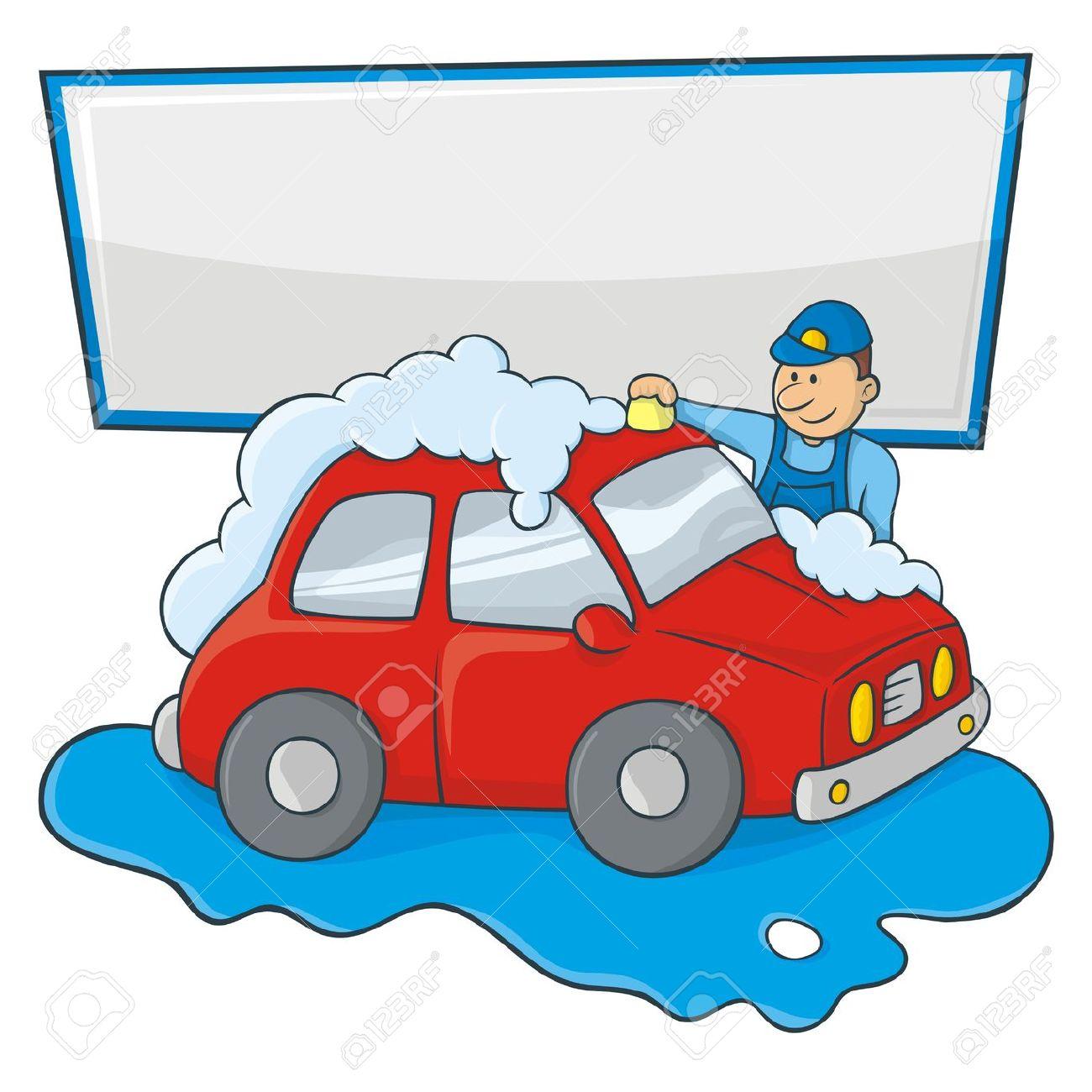 Clipart Person Washing Car