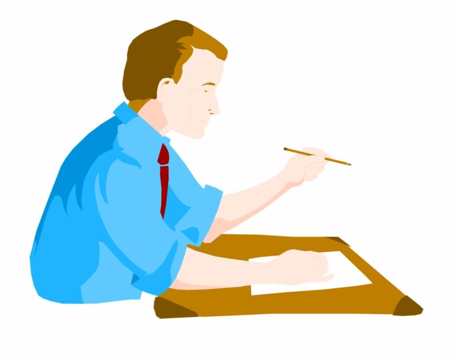 Desk Clipart Man.