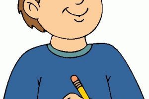 Person writing clipart 1 » Clipart Station.