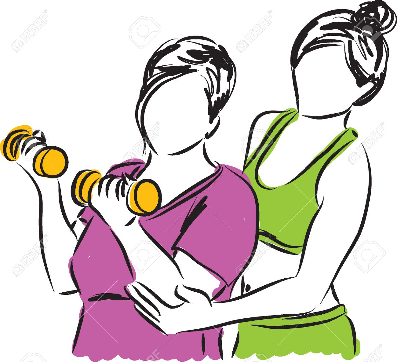 Personal trainer clipart 1 » Clipart Station.