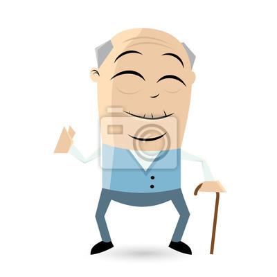 Image: Heureux, personne agee, homme, cliparts.