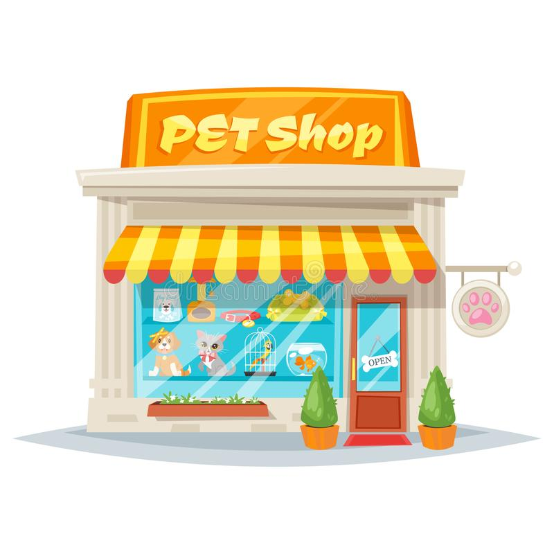 Pet Shop Stock Illustrations.