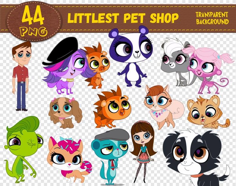 Littlest Pet Shop Clipart, Littlest Pet Shop characters, Littlest Pet Shop  png, printable, digital clipart, digital print, Instant Download.