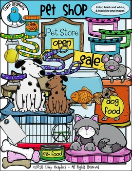 Pet Shop Clip Art Set.