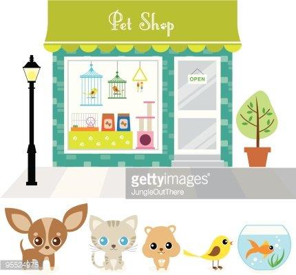 Pet Shop Clipart Image.