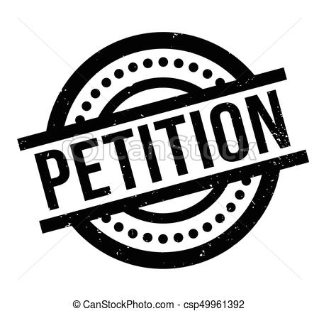 Petition rubber stamp.