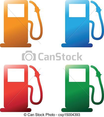 EPS Vectors of petrol pumps csp15004393.