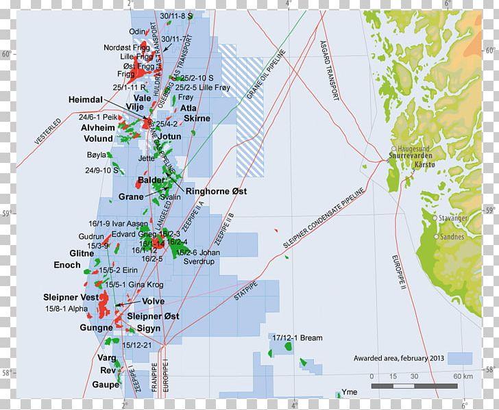 Johan Sverdrup Oil Field Water Resources Land Lot Map.