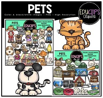 Pets Clip Art Bundle {Educlips Clipart}.