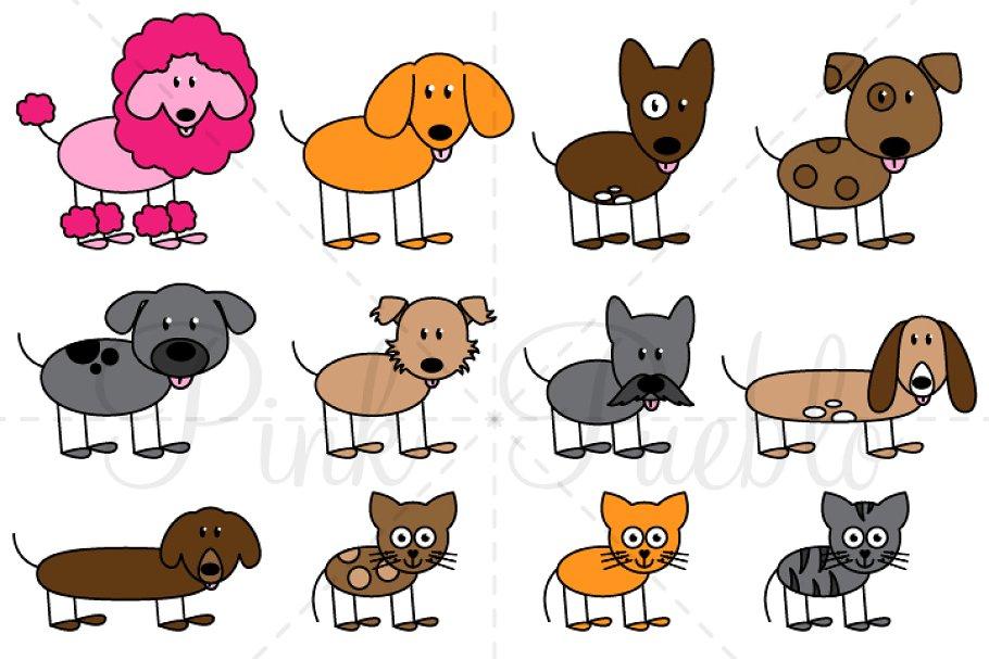 Stick Figure Pets Clipart & Vectors.