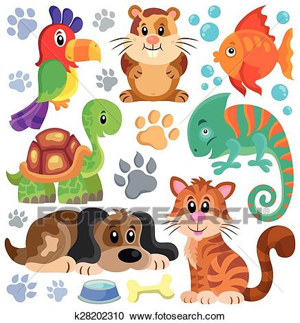 Pets theme collection 1 Clipart.