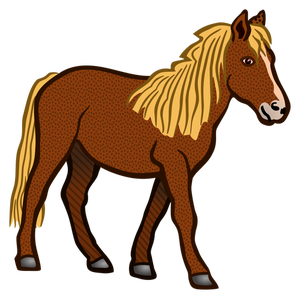 8278 cartoon horse race clipart.