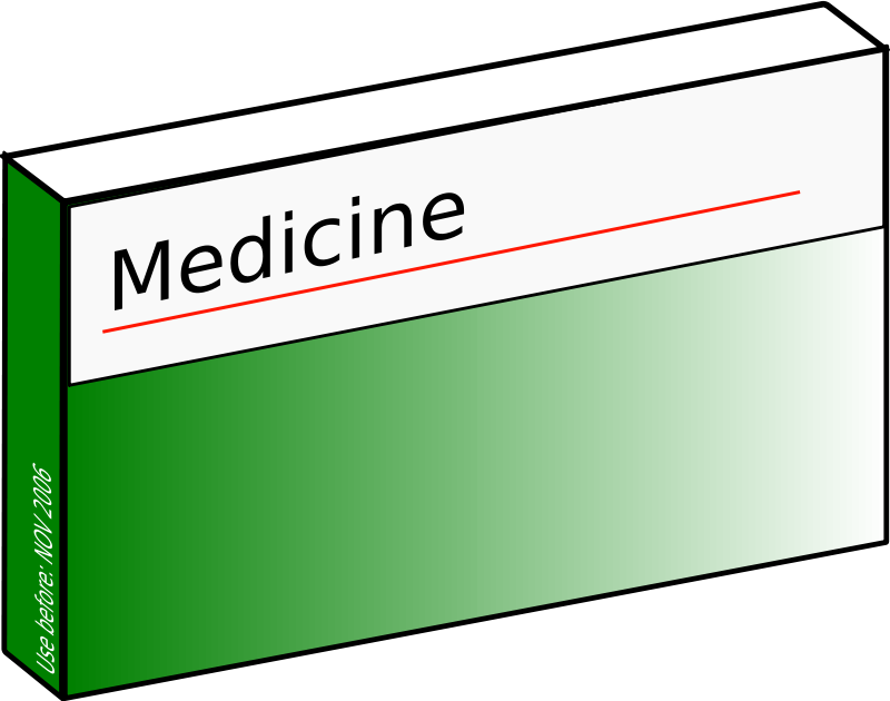 Free Clipart: Pharmaceutical carton.