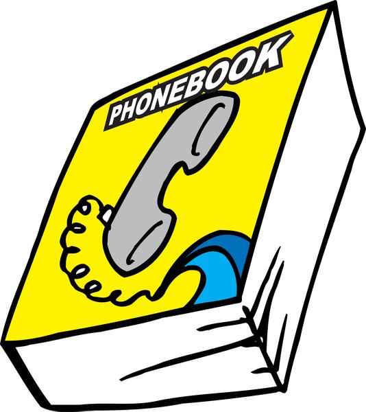 Clipart Phonebook.