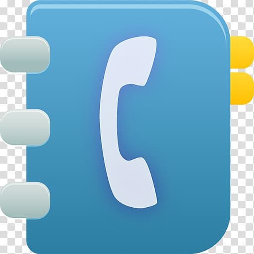 Phonebook icon, blue text symbol sky, Phonebook transparent.