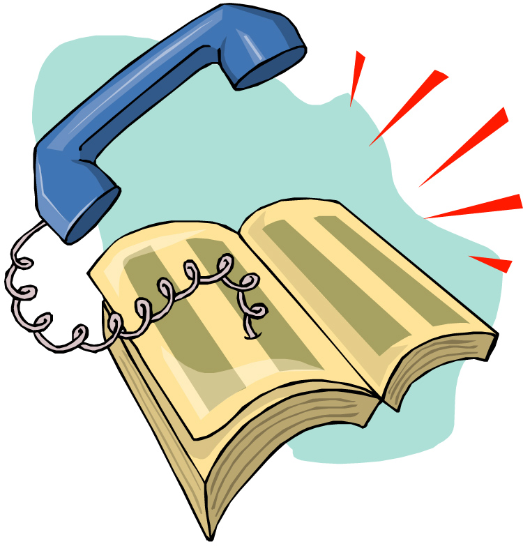 Telephone Directory Clipart.