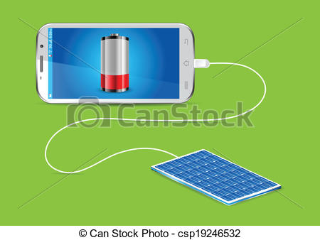 Vector Clip Art of Mobile phone charger, shade picture csp36827416.