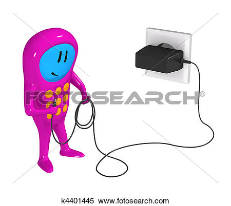 Stock Illustration of Mobile phone and cell charger k4401445.