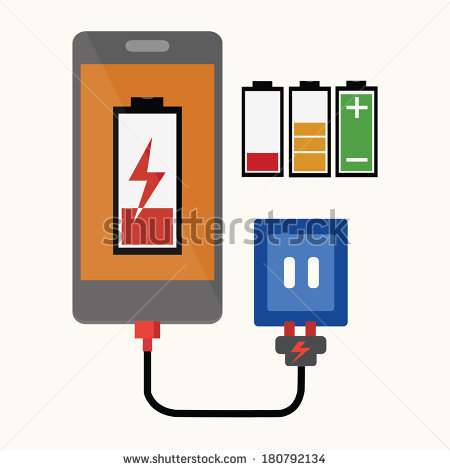 Charging Phones Stock Vectors, Images & Vector Art.