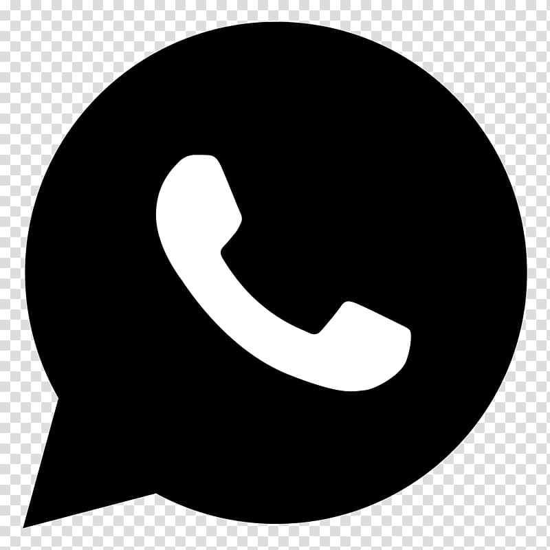 White and black phone logo, WhatsApp Computer Icons Mobile.