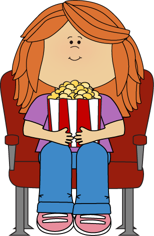 Watching movies clipart clipart images gallery for free.
